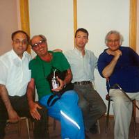 Con Gascón Luis y Edmundo Chacour (2000)