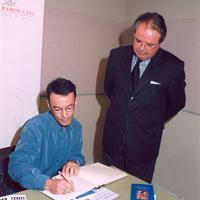 Con Manuel Fernández Delgado (abril 2003)
