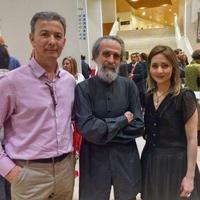 Con Cantabella e Isidoro Valcárcel Medina (2015)