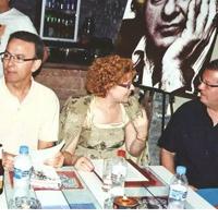 Con Ana María Olivares Tomás y Carlos Gargallo (2008)
