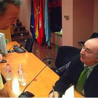 Con Antonio Colinas (2013)