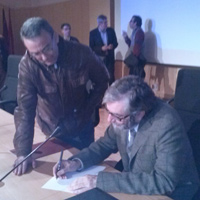 Con Antonio Muñoz Molina (2012)