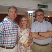 Con Carmen Cantabella y Andrés Trapiello (Mazarrón, julio 2016)