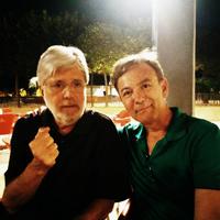 Con Eloy Sánchez Rosillo (septiembre 2015)
