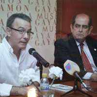 Con F. Javier Díez de Revenga Museo Ramon Gaya (2014)