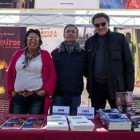 Con Lola Gutiérrez y Luis Leante. Feria del Libro de Pozo Estrecho (Cartagena, febrero 2019)