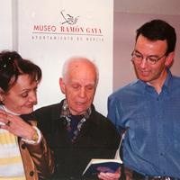 Con Mariano Sánchez Gil y Encarnita en el Museo Ramón Gaya