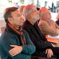Con Pedro Garcia Montalvo y Eloy Sanchez Rosillo - Homenaje a Eloy - Día Mundial de la Poesía - Museo Ramón Gaya - (Murcia, 2018)