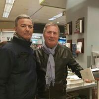 Con el pintor y poeta Antonio Soto