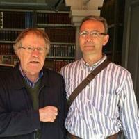 Con el escritor y biografista literario, Ian Gibson en Madrid. (2014)