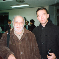 Con Julio Silva (febrero 2002 )