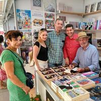Con Marisa López Soria, Carmen Cantabella, Javier Cerezo y Mariano Sanz Navarro - Feria del Libro de Murcia (2018)
