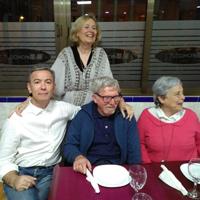 Con Manuela Sevilla, Elvira Ramos y Paco Torres Monreal (Beniaján, 2017)