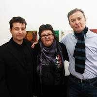Con Katy Parra y Javier Cerezo. (2015)