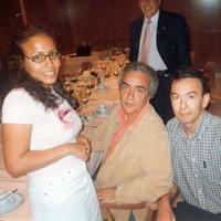 Con Tania Costa y Juan José Millás  (mayo 2002
